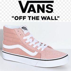 Vans Sk8 Hi Mahogany Rose Sneakers Sz 10